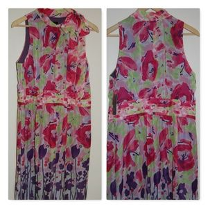 Sleeveless Floral Dress with Bow AGB SZ16